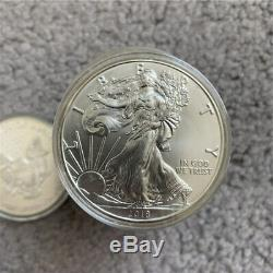 Lot of 10 2018 1 Troy oz. American Silver Eagle Coins New