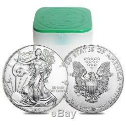 Lot of 10 2019 1 oz Silver American Eagle $1 Coin BU