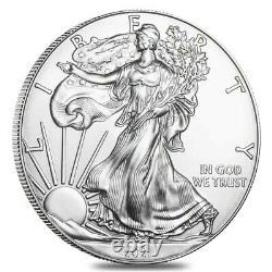 Lot of 10 2021 1 oz Silver American Eagle $1 Coin BU