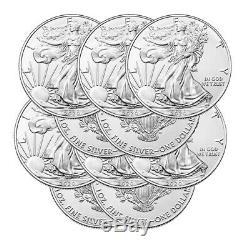 Lot of 10 Silver 2020 American Eagle 1 oz. US Mint. 999 fine silver 1oz Eagles