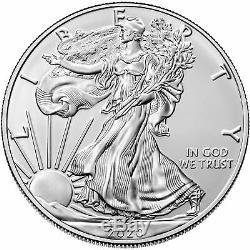 Lot of 3 2020 $1 American Silver Eagle 1 oz Brilliant Uncirculated