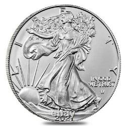 Lot of 3 2021 1 oz Silver American Eagle $1 Coin BU Type 2