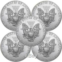 Lot of 5 2018 $1 American Silver Eagle 1 oz Brilliant Uncirculated