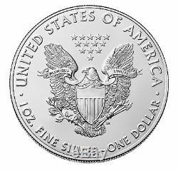 Lot of 5 2019 $1 1oz Silver American Eagle. 999 BU