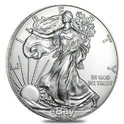 Lot of 5 2020 1 oz Silver American Eagle $1 Coin BU