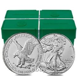 Lot of 5 2021 1 oz Silver American Eagle $1 Coin BU Type 2