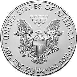 Lot of 5 2021 1oz American Silver Eagles. 999 Fine Silver BU Coins BRAND NEW