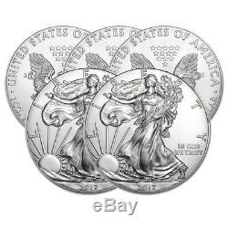 Lot of 5 Silver American Eagle Random Date 1 oz. Silver US Eagle. 999 fine Coins