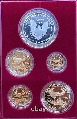 MUST-HAVE 1995-W American Eagles Gold & Silver 10th Anniversary 5-Coin Set