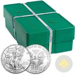 Monster Box of 500 2017 1 oz American Silver Eagle $1 Coins
