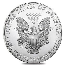 Monster Box of 500 2018 1 oz Silver American Eagle $1 Coin BU 25 Roll, Tube of