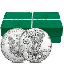 Monster Box of 500 2020 1 oz Silver American Eagle $1 Coin BU 25 Roll, Tube of