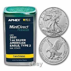 Pre-Sale 2021 1 oz Silver Eagles (MD Premier + PCGS FS Tube, Type 2)