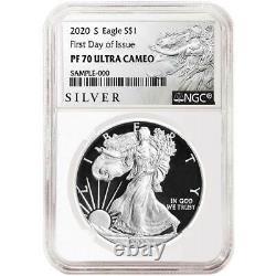 Presale 2020-S Proof $1 American Silver Eagle NGC PF70UC ALS FDI Label