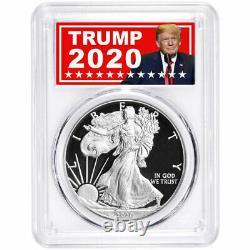 Presale 2020-S Proof $1 American Silver Eagle PCGS PR70DCAM FDOI Trump 2020 La