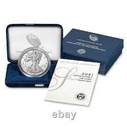 Presale 2021-W Proof $1 American Silver Eagle Box OGP & COA