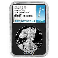 Presale 2021-W Proof $1 American Silver Eagle NGC PF70UC FDI First Label Retro