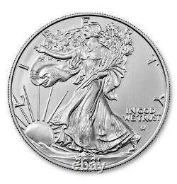 Presale Lot of 20 2021 $1 Type 2 American Silver Eagle 1oz Brilliant Uncircu