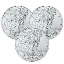 Presale Lot of 3 2021 $1 American Silver Eagle 1 oz Brilliant Uncirculated