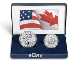 Pride of Two Nations Limited Edition Set 2019 W Enhanced Rev Pr Silver Eagle &