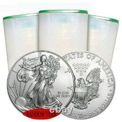 RANDOM YEAR Roll of 20 1 oz American Silver Eagle Coin BU IN STOCK