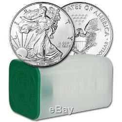 Random Date American Silver Eagle (1 oz) $1 1 Roll of 20 BU Coins in Mint Tube