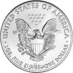 Random Date American Silver Eagle (1 oz) $1 BU Five 5 Coins