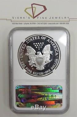 Rarest Silver American Eagle 1995 W NGC PF69 Proof Ultra Cameo 1oz. 999 Coin
