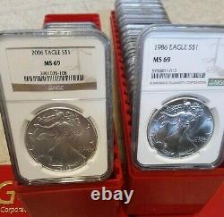 Reduced 1986 2021 Coin American Silver Eagle Complete Set Ngc Ms 69