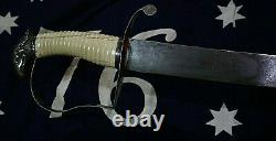 Revolutionary War American Silver Hilt Eagle Head Owned Author Harold Peterson