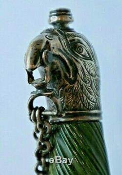 Revolutionary War Silver Hilt American Made Green Handle Eagle Head Offic Sword