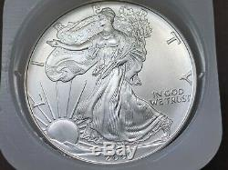 Roll Of 20 1oz American Silver Eagles 2002 In Us Mint Tube + Bonus Silver Coin