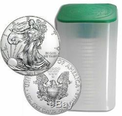 Roll Of 20 2015 $1 Silver American Eagles 1 oz Coins BU