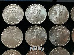 Roll of 20 1986 American Silver Eagles High Grade in Scarce Orange Tube Q2