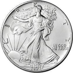 Roll of 20 1991 American Silver Eagle NGC Gem Uncirculated