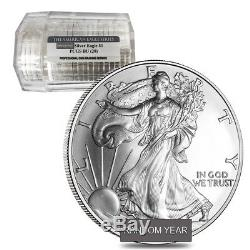 Roll of 20 1 oz Silver American Eagle $1 Coin PCGS BU Sealed Tube, Random