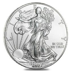 Roll of 20 2002 1 oz Silver American Eagle $1 Coin BU (Lot, Tube of 20)