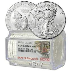 Roll of 20 2013-(S) American Silver Eagle NGC Gem Uncirculated