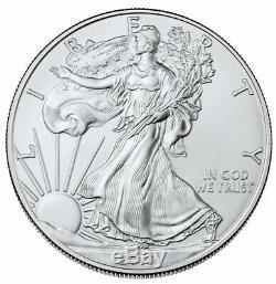 Roll of 20 2019 1 oz American Silver Eagle $1 GEM BU SKU55907