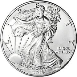 Roll of 20 2019 American Silver Eagle PCGS Gem BU First Day of Issue