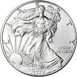 Roll of 20 2020 (S) American Silver Eagle NGC Gem Unc First Day Issue Trolley