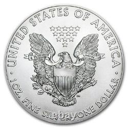 Roll of 20 2021 1 oz American Eagle. 999 Fine Silver BU Coin (Tube of 20)