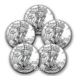 SPECIAL PRICE! 2020 1 oz Silver American Eagle BU Lot of 5 Coins