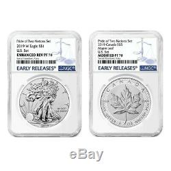 Sale Price 2019 Pride of Two Nations 2-Coin Set NGC PF 70 ER