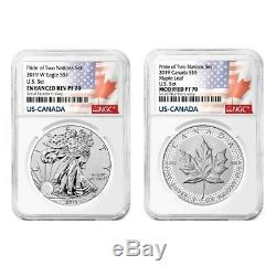 Sale Price 2019 Pride of Two Nations 2-Coin Set NGC PF 70 ER (Two Flags Label)