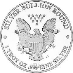 Silvertowne 2019 Silver American Eagle 5oz. 999 Silver Medallion
