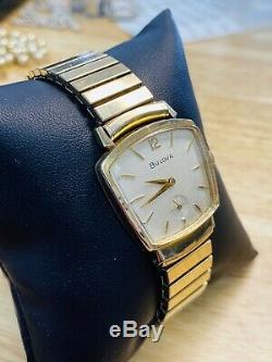 Vintage mens 1960 Bulova American Eagle 2 ASSYMETRICAL Art Deco Watch, Very Nice